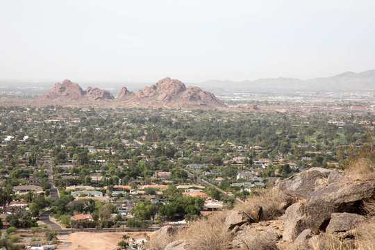 Rocks and mountain in Scottsdale, Arizona