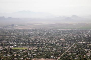 Hazy sky in hot Scottsdale, Arizona