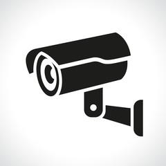 cctv camera on white background