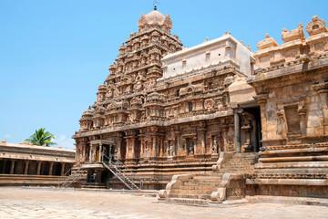 Decorated walls and gopuram, Airavatesvara Temple, Darasuram, Tamil Nadu. View from South.