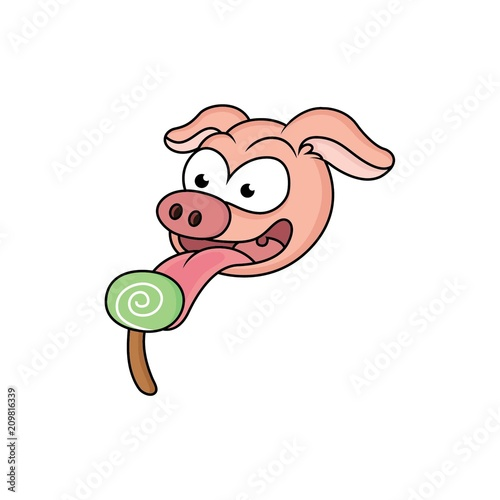 pig cartoons eating candy stock photo and royalty free images on