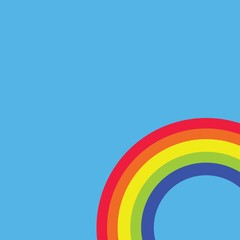 Rainbow colours in corner blue background vector Icon eps10 colors blue green yellow orange red