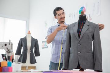 fashion designer make a suit