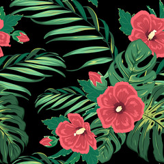Exotic tropical paradise floral jungle greenery