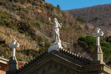 Riomaggiore, Parco Naturale delle Cinque Terre, La Spezia, Mar Ligure, Liguria, Italia