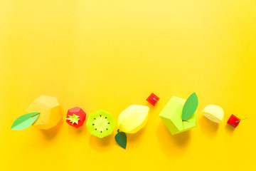 exotic fruits made of paper