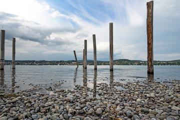 Wall Mural - Auszeit, Entspannung,  Glück, Freude, Meditation, Naturschutzgebiet: Ruhe am See :)