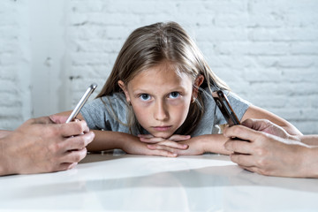 parent mobile cell smart phone addiction neglecting child concept shoot