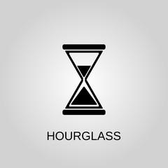 Hourglass icon. Hourglass symbol. Flat design. Stock - Vector illustration