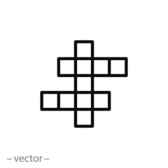 crossword icon vector