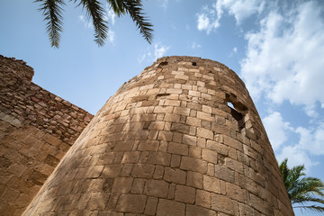 Tower of old Aqaba Fortress, Mamluk Castle
