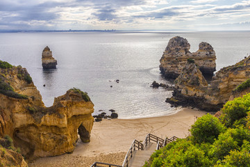 Camilo beach in Algarve Portugal