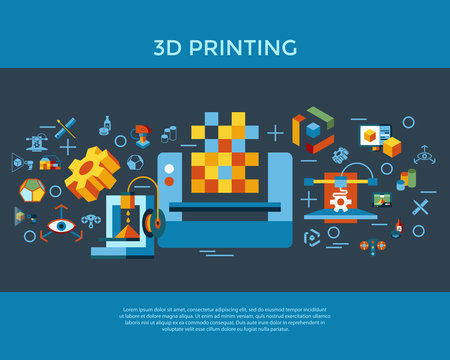 Digital vector 3d printing technology