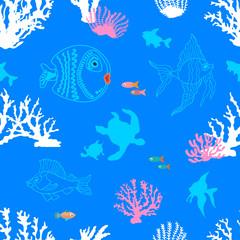 Summer sealife print.