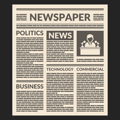 Vintage Newspaper Template. Vector