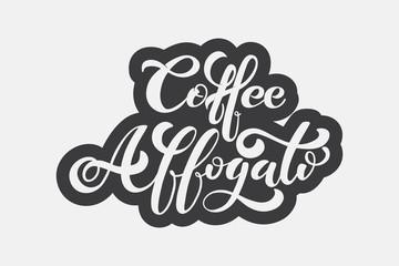 Coffee Affogato logo. Types of coffee.