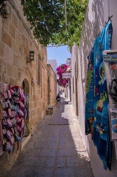 Lindos, Grecja - romantyczne uliczki