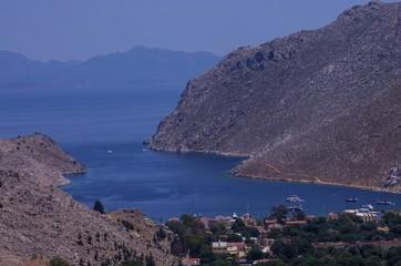 Symi, Grecja - widok na morze