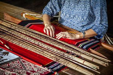 detail of asian loom