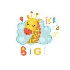 Cute giraffe vector illustration