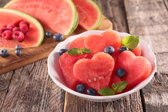 watermelon and blueberry