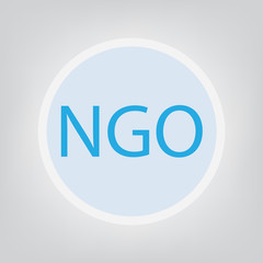 NGO (Non-Governmental Organization)- vector illustration