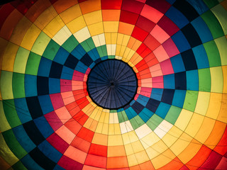 Photo sur Aluminium Montgolfière / Dirigeable Abstract background, inside colorful hot air balloon