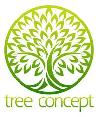 Tree Icon Concept Circle