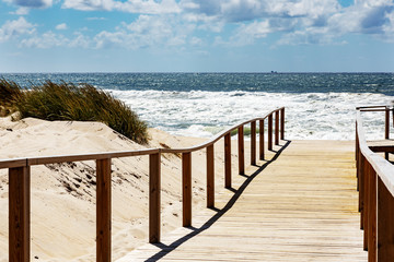 Wooden pier to the sea