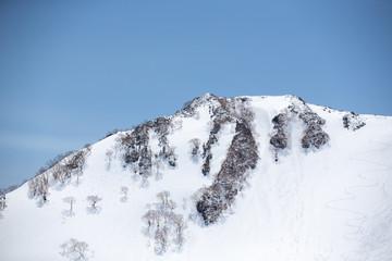 snowy mountain view, TATEYAMA KUROBE Alpine route