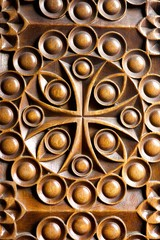Wood Christian pattern decorative bas-relief