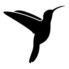 Hummingbird icon black color illustration flat style simple image