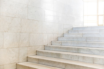 Fototapeten Treppe Marble staircase with stairs in abstract luxury architecture