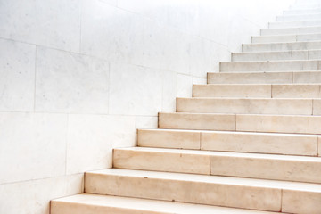 Poster Escalier Marble staircase with stairs in abstract luxury architecture