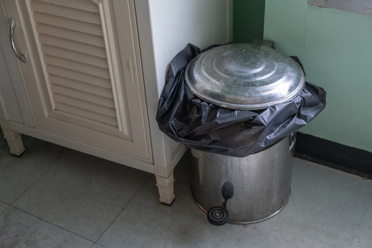steel bin in the room