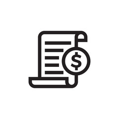 Invoice bill document vector line icon