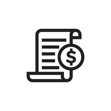 Invoice bill document vector line icon