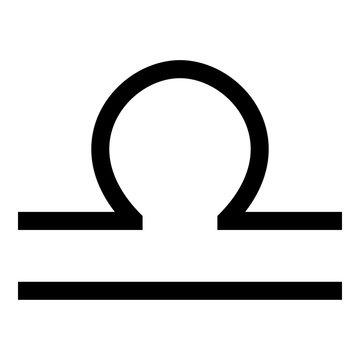 Libra symbol zodiac icon black color illustration flat style simple image