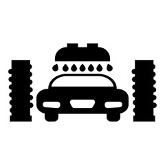 Car wash automatic icon black color illustration flat style simple image