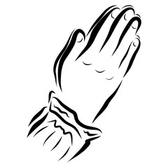 Conversation with God, Christian prayer, the hands of the believer