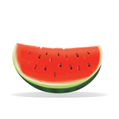 watermelon piece on white background