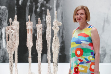 Catherine Grenier, Director of the Giacometti Foundation, poses during the press preview of the Giacometti Institute in Paris