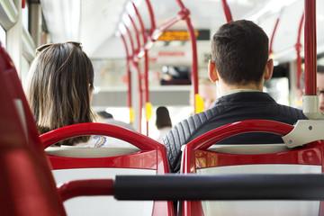 bus public transport with passengers
