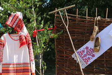 ancient Russian household items and clothes