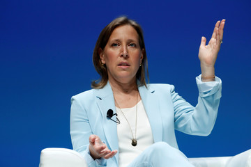 YouTube CEO Susan Wojcicki attends a conference at the Cannes Lions International Festival of Creativity, in Cannes