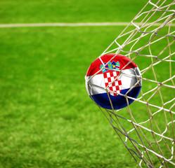 Fussball mit kroatischer Flagge