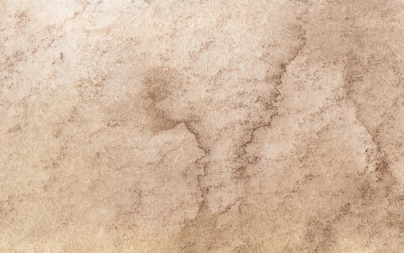 Brown abstract watercolor texture background.