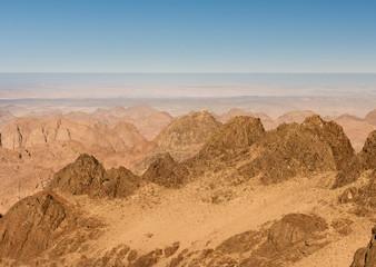 Gold arid desert landscape Sinai, Egypt
