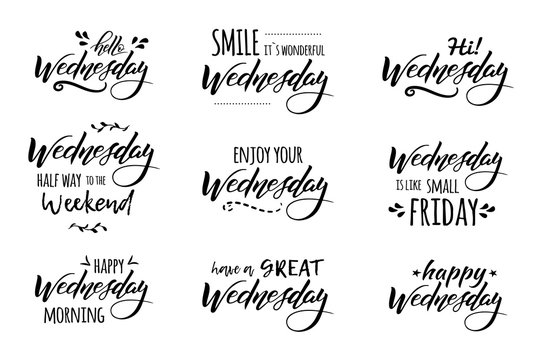 wednesday hand drawn lettering