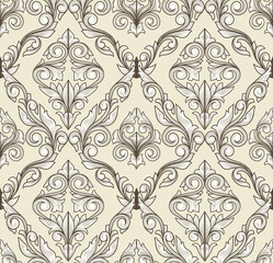 Retro decorative seamless pattern